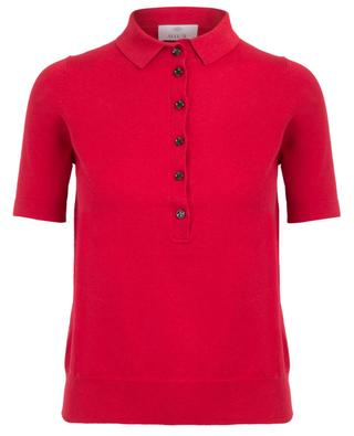 Slim fine knit polo shirt ALLUDE