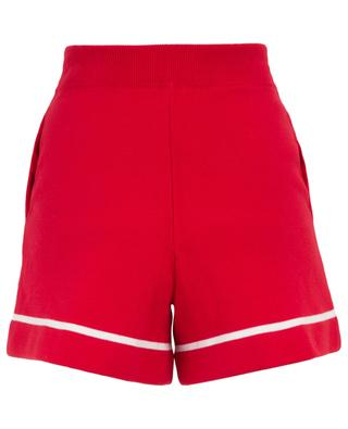 Stripe detail knit shorts ALLUDE