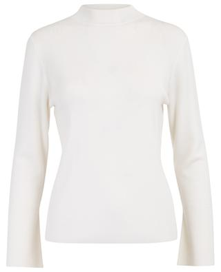 Lightweight wool jumper with mock collar ALLUDE