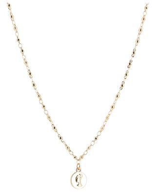 Lange Halskette aus goldenem Metall und Achat Sera BCHARMD