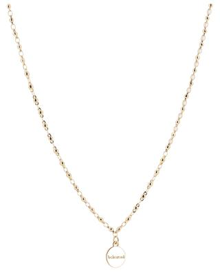 Lange Halskette aus goldenem Metall und Achat Streep BCHARMD