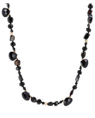 Lange Halskette aus schwarzem Achat Carter BCHARMD
