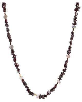Lange Halskette aus Granat und Achat Lynda BCHARMD