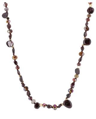 Tyler long garnet necklace BCHARMD