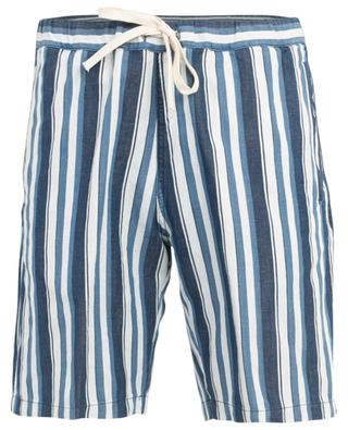 Striped cotton and linen blend Bermuda shorts PAOLO PECORA