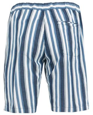 Striped cotton and linen blend Bermuda shorts PAOLO PECORA