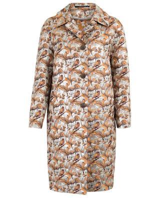 Leichter Mantel aus Jacquard mit Stickereien Clarissa TAGLIATORE
