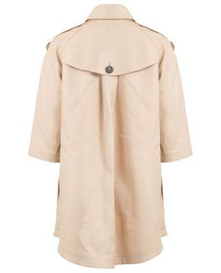Tosca A-line raffia style trench coat TAGLIATORE