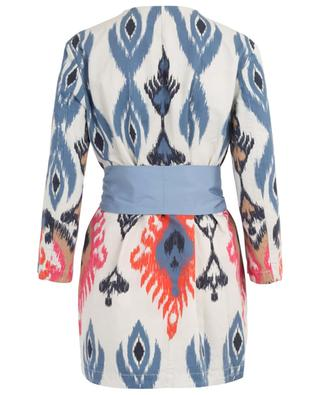 Printed cotton and linen light-weight coat BAZAR DELUXE
