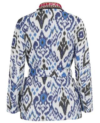 Embroidered ethnic print quilted jacket BAZAR DELUXE