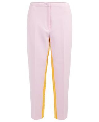 Cropped trousers with contrasting bands N°21