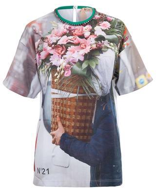 T-Shirt mit Blumenstrauss-Print N°21