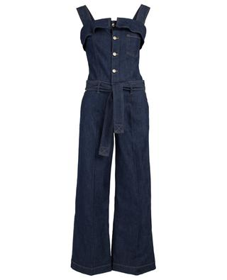 Overall aus Denim mit Rüsche Topanga Rinse 7 FOR ALL MANKIND