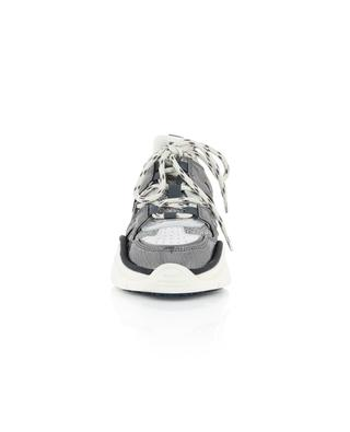 Kindsay silver Lurex and leather sneakers ISABEL MARANT