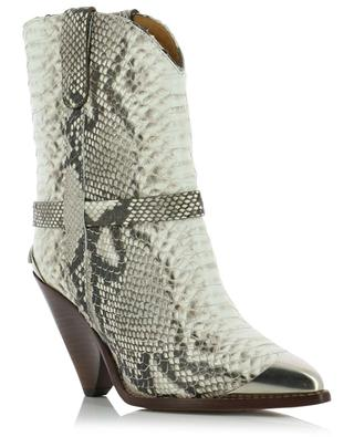 Bottines en cuir effet serpent Lamsy ISABEL MARANT