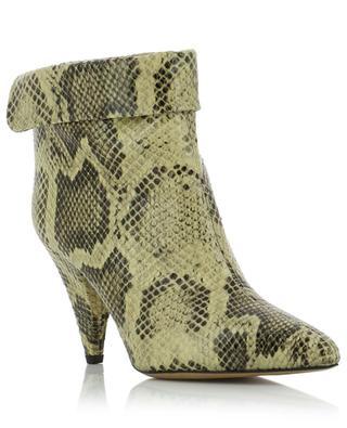 Lisbo snake skin effect leather booties ISABEL MARANT