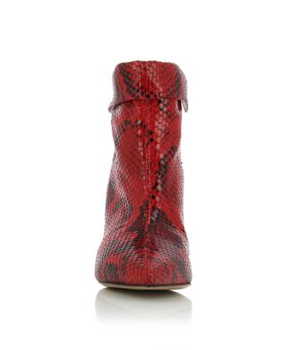 Lisbo snake skin effect leather booties ISABEL MARANT