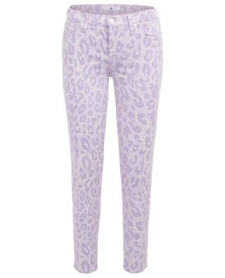 Leopardenjeans The Skinny Crop Wisteria 7 FOR ALL MANKIND
