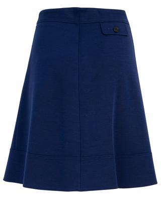 Virgin wool A-line skirt WINDSOR
