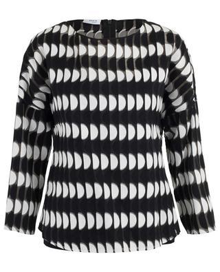 Bluse mit Print aus Baumwollmix AKRIS PUNTO