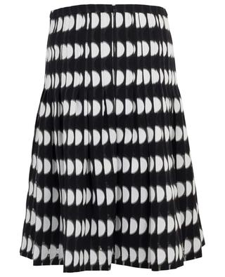 Jupe plissée en coton mélangé imprimé AKRIS PUNTO