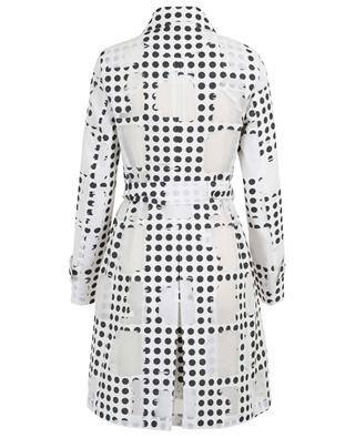 Leichter Mantel aus getupfter Dévoré-Baumwolle AKRIS PUNTO