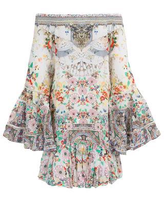 Bedrucktes Kleid aus Seide Time After Time AGENT CAMILLA