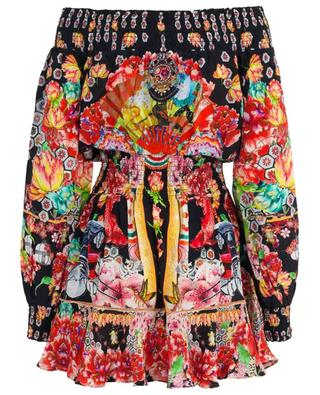 Bedrucktes Kleid aus Seide Painted Land AGENT CAMILLA