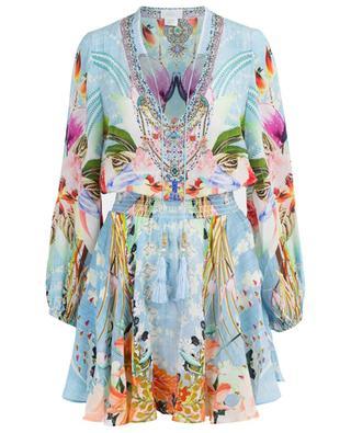 Kleid aus Seide mit Print The Still Abyss AGENT CAMILLA