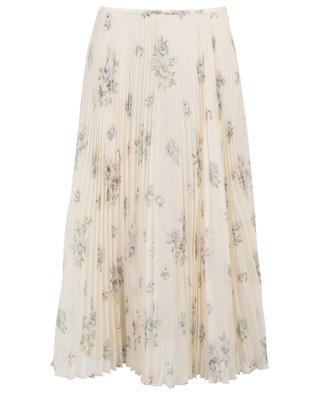 Abbot Vita floral silk pleated skirt JOSEPH