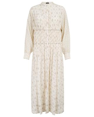Tala Woolf Patchwork long floral silk dress JOSEPH