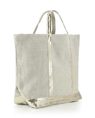 Sequins adorned canvas tote bag VANESSA BRUNO