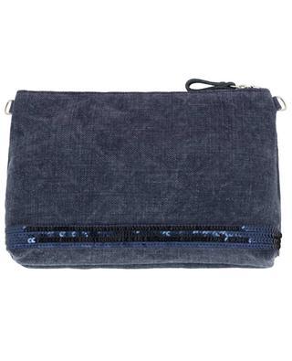 Canvas clutch bag with sequins VANESSA BRUNO