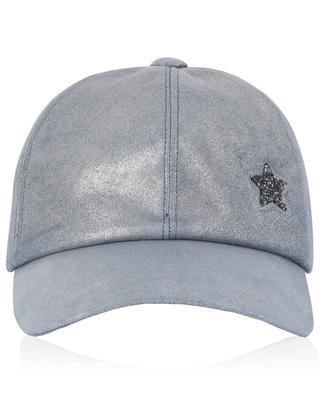Glitter suede baseball cap with star LORENA ANTONIAZZI