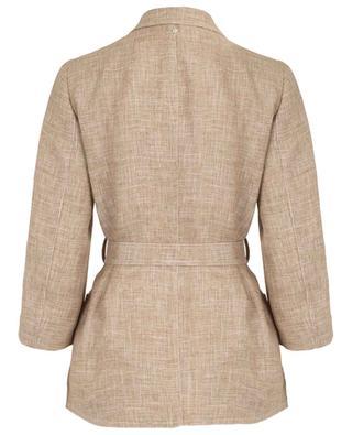 Linen blazer with belt LORENA ANTONIAZZI
