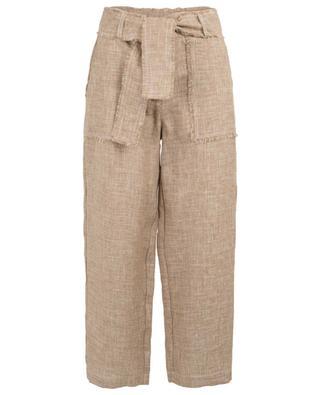 Pantalon paper bag en lin LORENA ANTONIAZZI