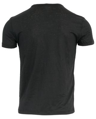 T-Shirt mit V-Ausschnitt aus Leinenstretch MAJESTIC FILATURES