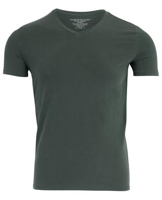Stretch cotton V-neck T-shirt MAJESTIC FILATURES