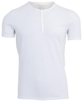 Slit neck cotton T-shirt MAJESTIC FILATURES