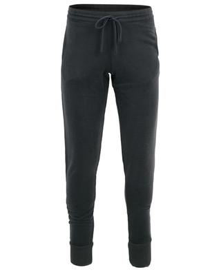 Cotton blend slim fit jogging trousers MAJESTIC FILATURES