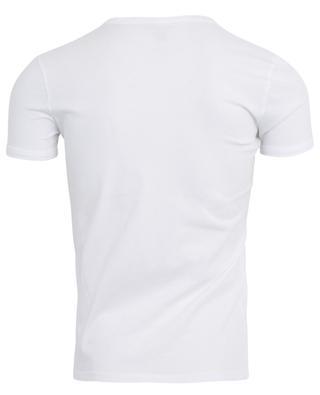 T-Shirt aus Baumwolle mit V-Ausschnitt MAJESTIC FILATURES