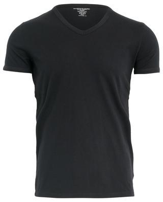 T-shirt en coton à col en V MAJESTIC FILATURES