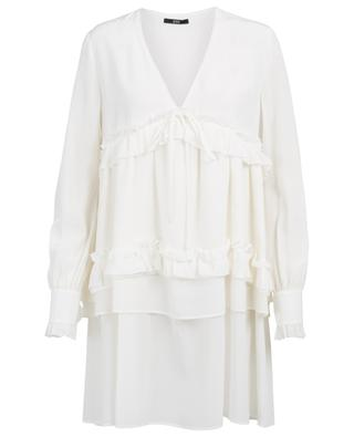 Short ruffled A-line dress SLY 010