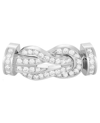 Large 8°0 white gold and diamonds buckle FRED PARIS