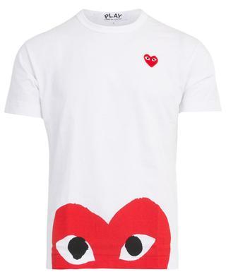 Printed heart short-sleeved T-shirt COMME DES GARCONS PL