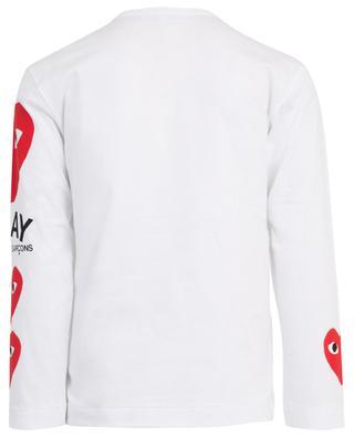 Heart print long-sleeved T-shirt COMME DES GARCONS PL