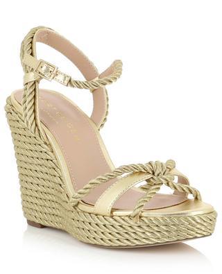 Neile golden rope wedge sandals KURT GEIGER LONDON