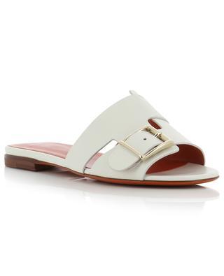 Flache Sandalen aus Leder mit Schnalle SANTONI