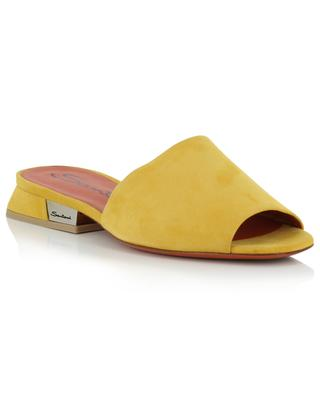 Coloured flat suede slides SANTONI