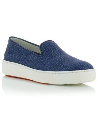 Slip-on Sneakers aus genarbtem Leder SANTONI